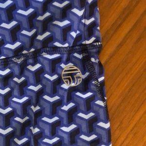"Tory Burch Pants - EUC Tory sport ""T"" patterned leggings size S"